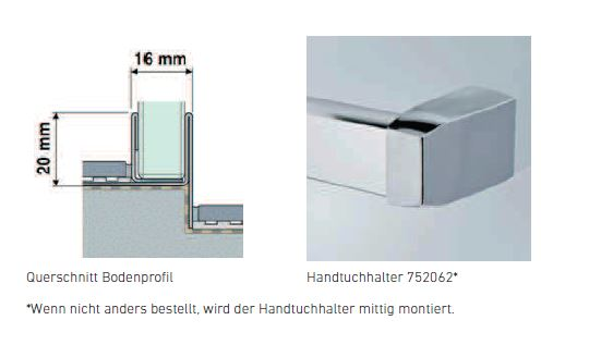 Duscholux Handtuchhalter F?r Dusche : .com – Produkt: – Duscholux Spritzschutzwand – Duscholux – Duscholux